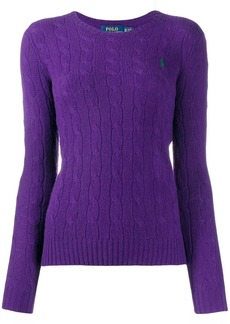 Ralph Lauren cable knit round neck sweater