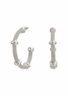 Ralph Lauren 28 Millimeter Mesh Hoop Earrings