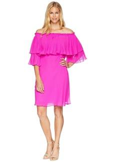 Ralph Lauren 2E Poly Georgette Romina 3/4 Sleeve Day Dress