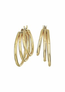 Ralph Lauren 3 Row Hoop Earrings