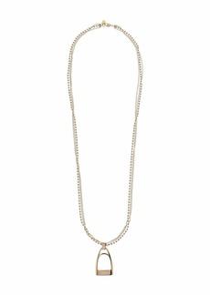 """Ralph Lauren 34"""" Metal Bit Pendant Necklace"""