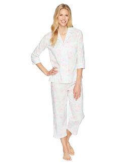 Ralph Lauren 3/4 Sleeve Notch Collar Capris Pajama Set