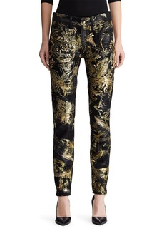 Ralph Lauren 400 Matchstick Jeans with Crystal Embroidery