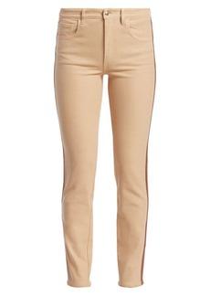 Ralph Lauren 400 Matchstick Leather Trim Jeans