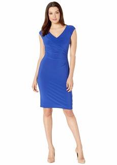 Ralph Lauren 4R Matte Jersey Brandie Cap Sleeve Day Dress