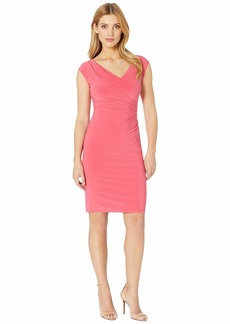Ralph Lauren 4R Matte Jersey Brandie Cap Sleeve Day Dress