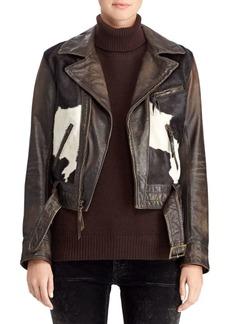 Ralph Lauren 50th Anniversary Hadley Leather & Pony Hair Jacket