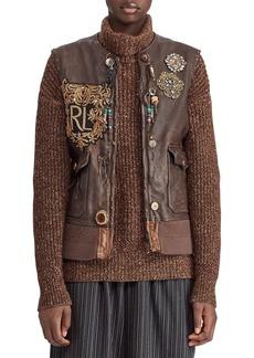 Ralph Lauren 50th Anniversary Hamlin Leather Vest w/ Patches