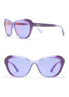 Ralph Lauren 56mm Cat Eye Sunglasses