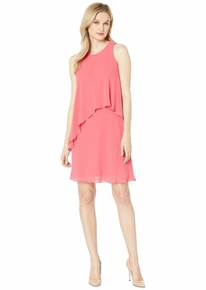Ralph Lauren 56S Classic Solid Georgette Lonia Sleeveless Day Dress