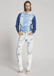 872 Painted Straight-Leg Jean