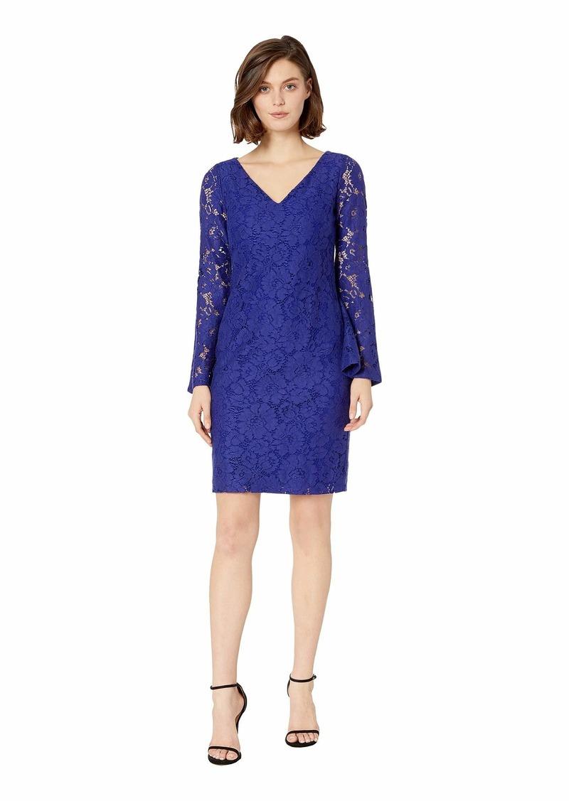 Ralph Lauren 97G Garden Floral Lace Fresy Long Sleeve Day Dress