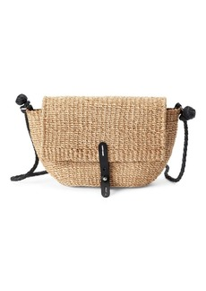 Ralph Lauren Abaca Straw Crossbody Bag