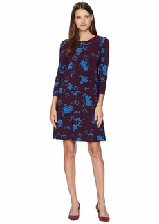 Ralph Lauren Abbi Almonte Floral 3/4 Sleeve Day Dress