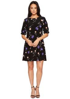 Ralph Lauren Abiela Calendar Floral Matte Jersey Dress