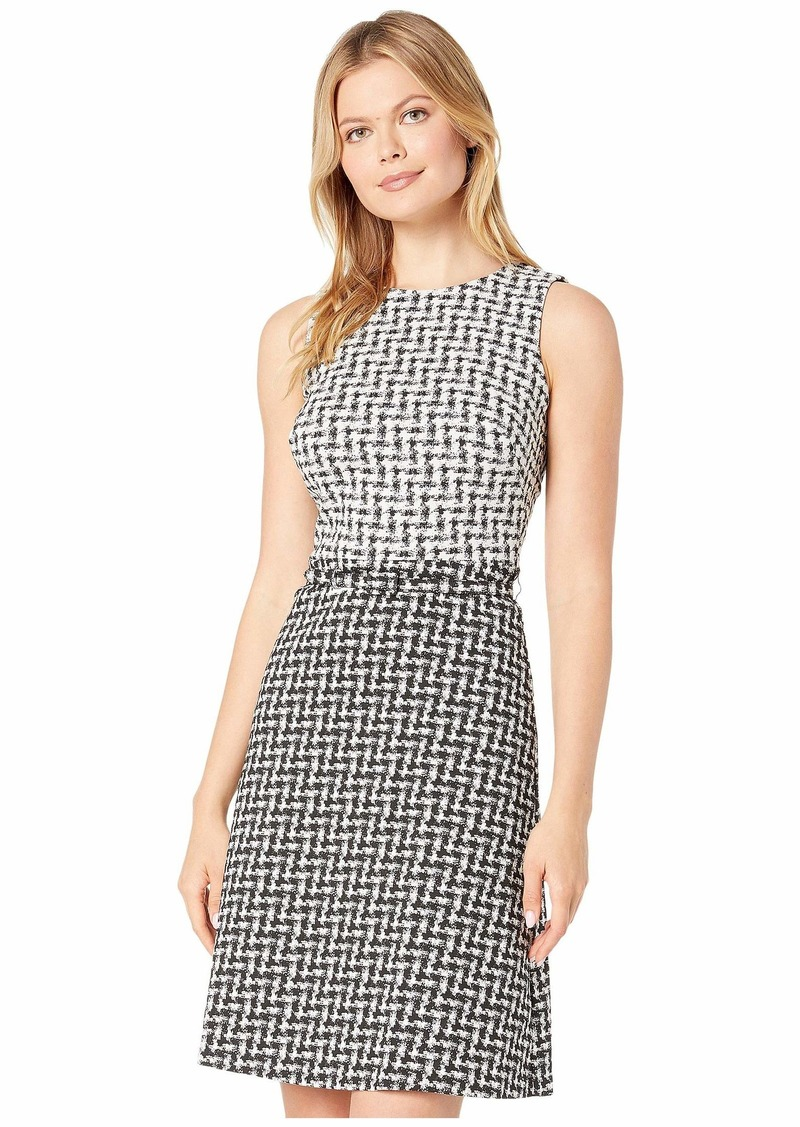 Ralph Lauren Abstract Jacquard Kira Sleeveless Day Dress