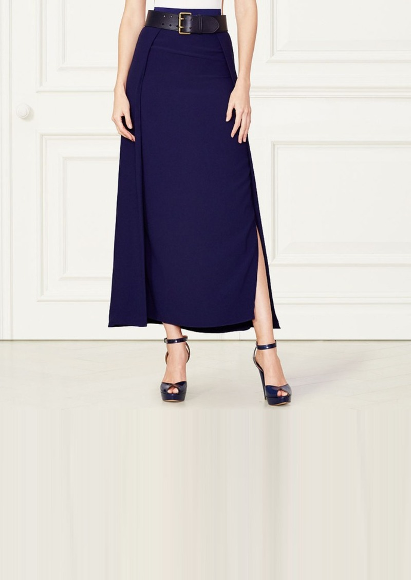 Ralph Lauren Addison Side-Slit Skirt