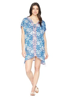 Ralph Lauren Aegean Tile Embroidered Tunic Cover-Up