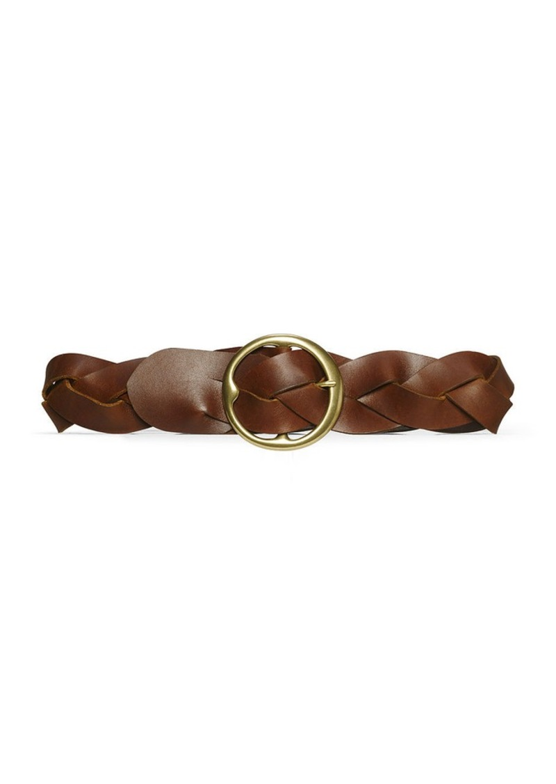 Ralph Lauren Braided Calfskin O-Ring Belt