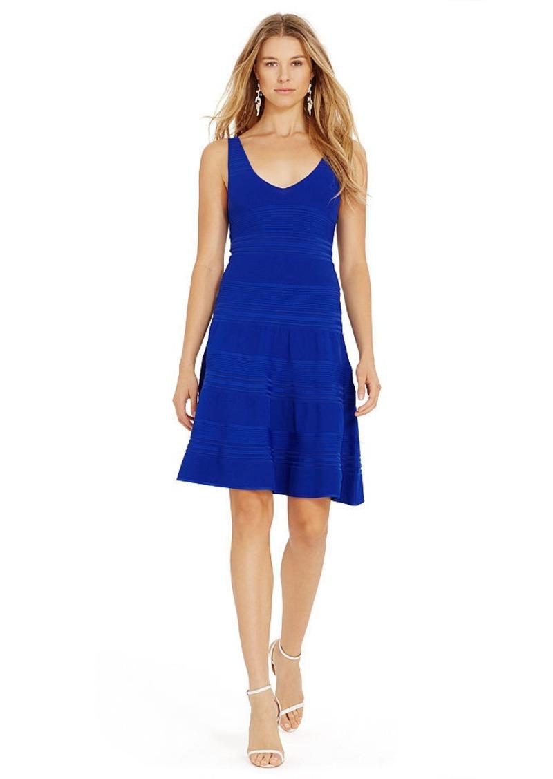 Ralph Lauren Fit-and-Flare V-Back Dress