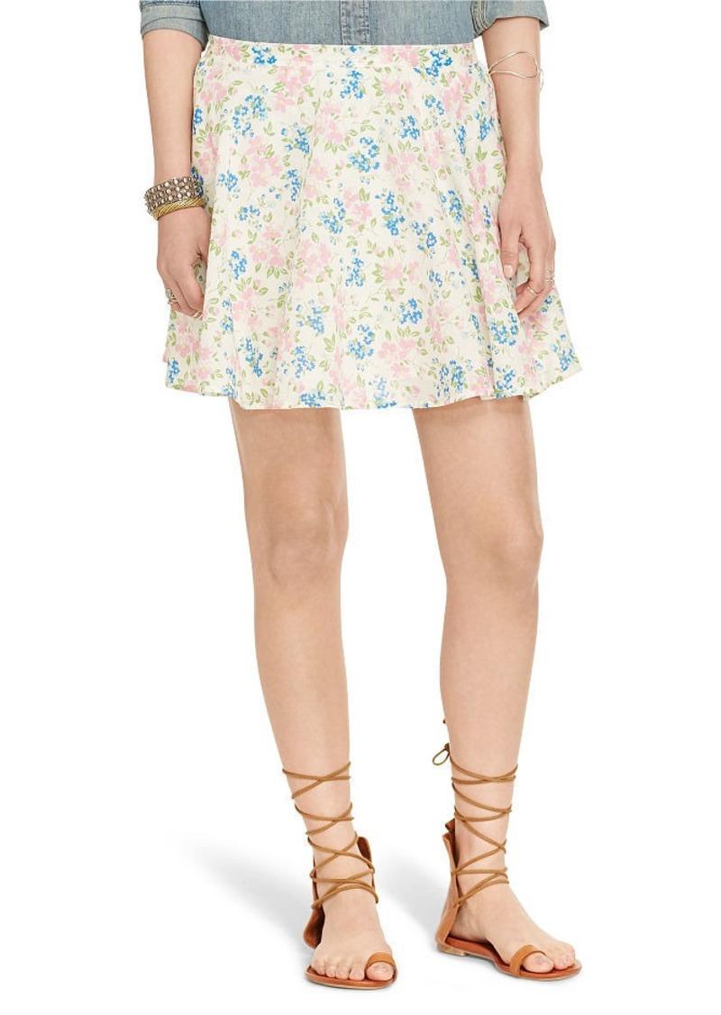 Ralph Lauren Floral-Print A-Line Miniskirt