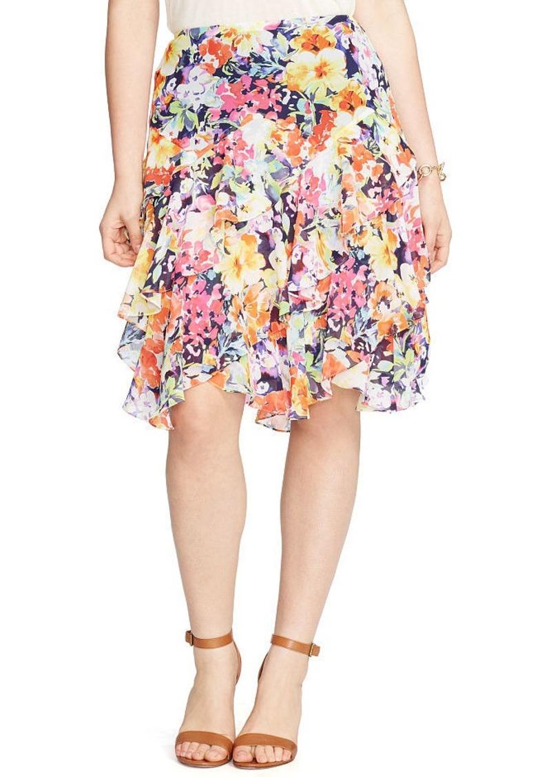 Ralph Lauren Floral-Print Ruffled Skirt