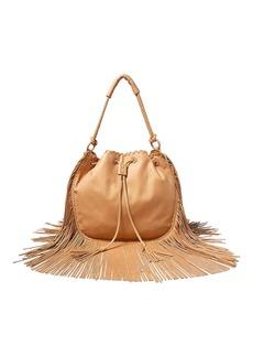 Ralph Lauren Fringed Leather Hobo Bag