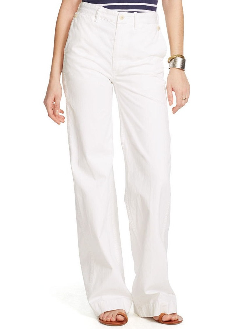 Ralph Lauren High-Rise Wide-Leg Sailor Pant