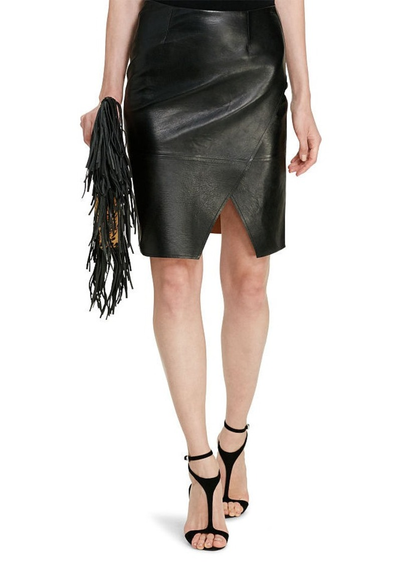 Ralph Lauren aFeoOverrideAttrRead('img', 'src')Leather Pencil Skirt