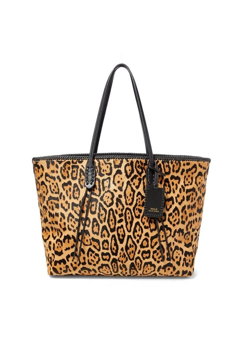 df4860ca7b92 Ralph Lauren Leopard-Print Haircalf Tote