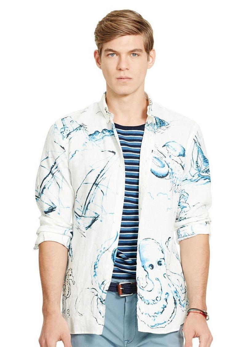 Ralph Lauren Nautical Linen Sport Shirt