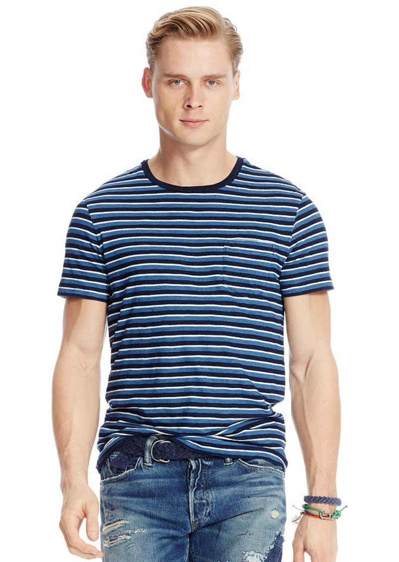 Ralph Lauren Striped Indigo Jersey T-Shirt