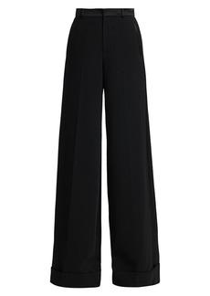 Ralph Lauren Alana Wide-Leg Stretch Virgin Wool Tuxedo Trousers