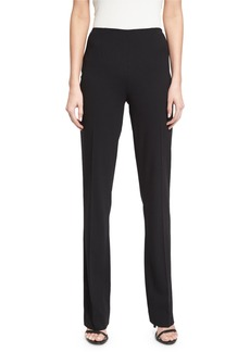 Ralph Lauren Alandra Side-Zip Stretch-Wool Pants  Black