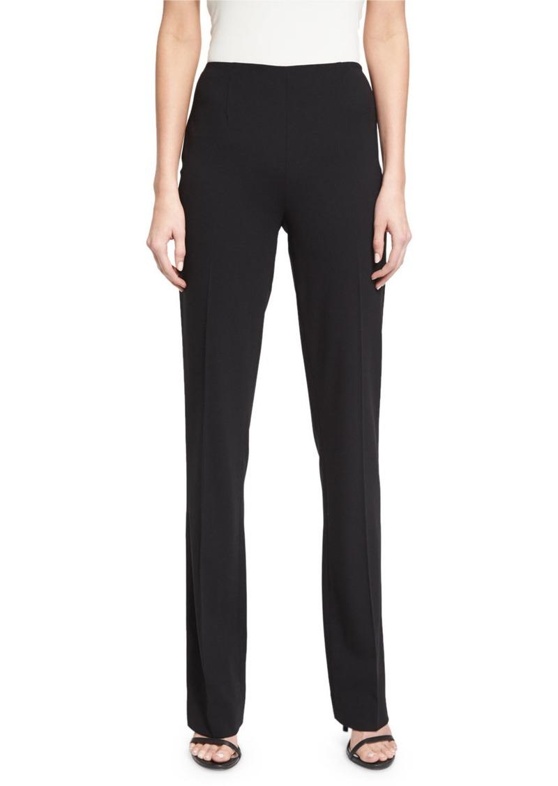 Ralph Lauren Alandra Side-Zip Stretch-Wool Pants  Black