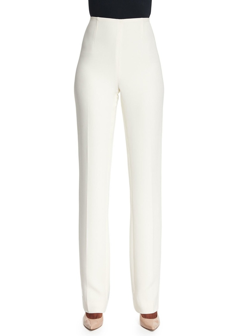 Ralph Lauren Alandra Straight-Leg Pants  Cream