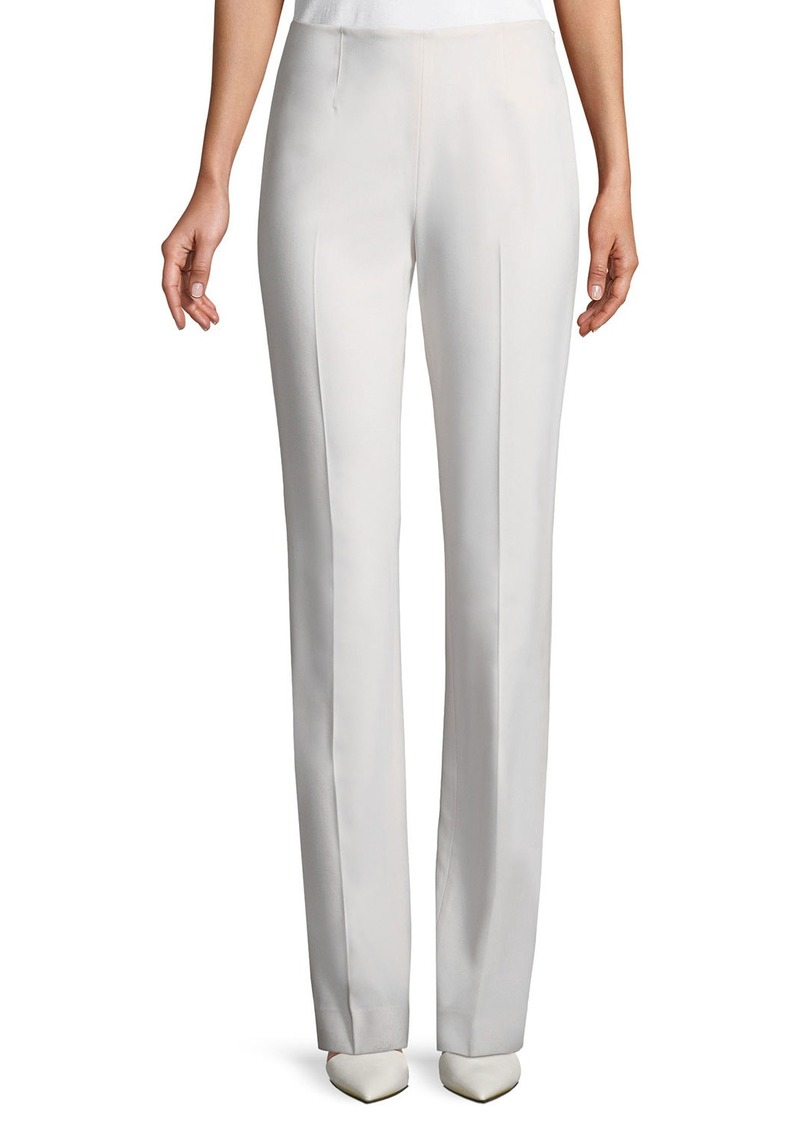 Ralph Lauren Alandra Straight-Leg Wool Pants