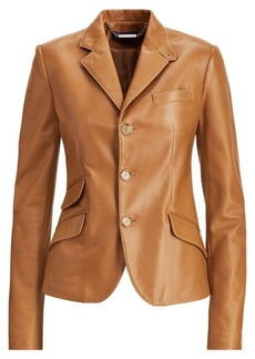 Ralph Lauren Alastair Nappa Leather Jacket
