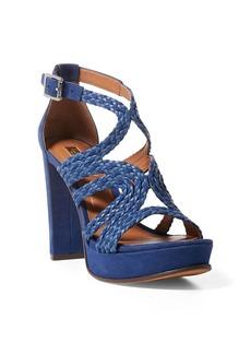 Ralph Lauren Aleena Braided Nubuck Sandal