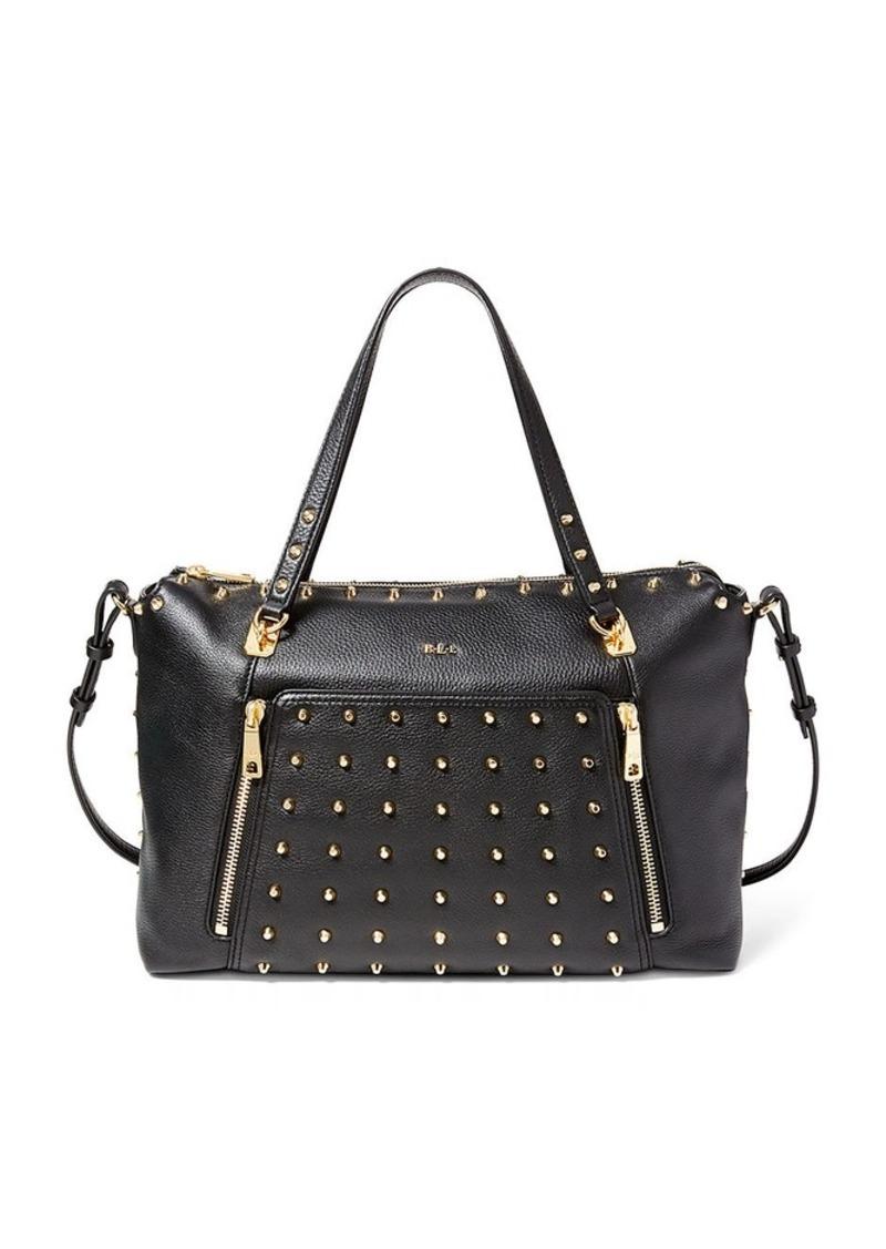 Ralph Lauren Ally Studded Leather Satchel