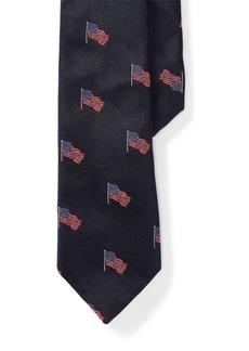 Ralph Lauren American Flag Silk Tie