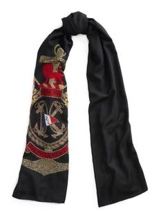Ralph Lauren Anchor Crest Wool-Blend Scarf