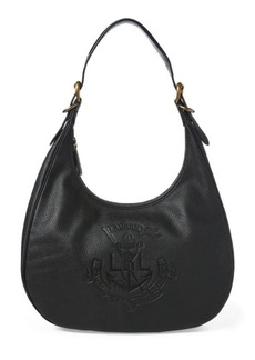 Ralph Lauren Anchor Leather Hobo Bag