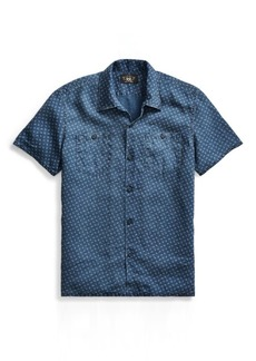 Ralph Lauren Anchor-Print Linen Camp Shirt