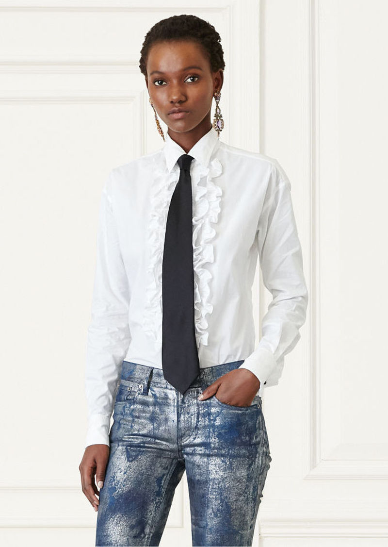 Ralph Lauren Andrei Ruffled Cotton Shirt