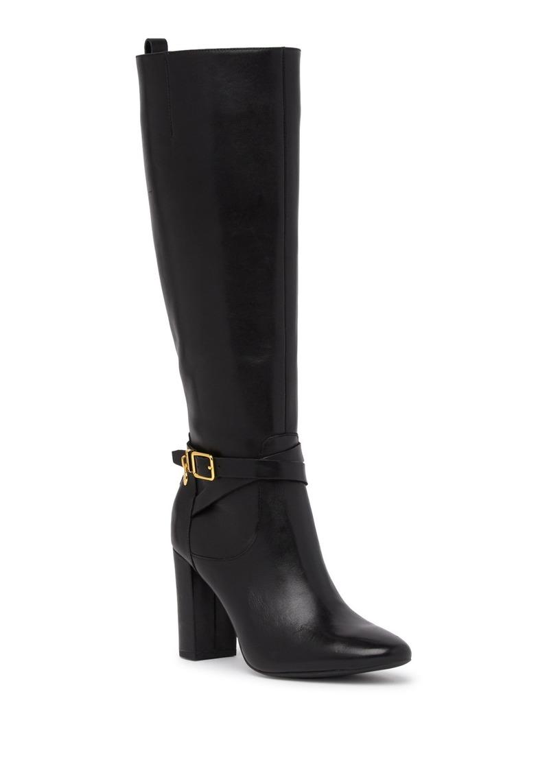 Ralph Lauren Anjelina Leather Block Heel Boot