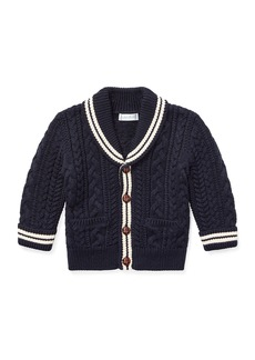 Ralph Lauren Aran Cable-Knit Cardigan Sweater