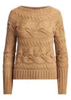 Ralph Lauren Aran Horizontal Cable Knit Sweater