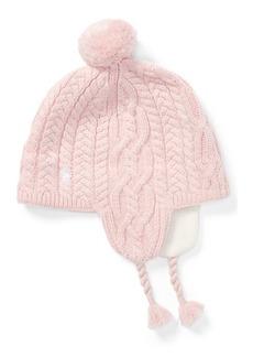 Ralph Lauren Aran-Knit Earflap Hat
