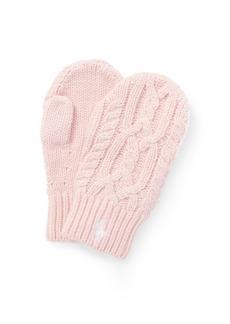 Ralph Lauren Aran-Knit Mittens